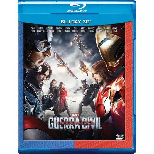Blu-Ray Capitão América: Guerra Civil 3d