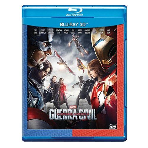 Blu-Ray Capitão América: Guerra Civil - 3D