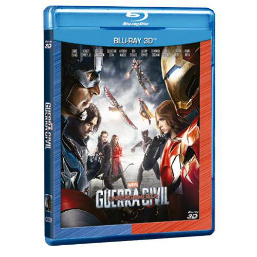 Blu-Ray 3d - Capitão América: Guerra Civil