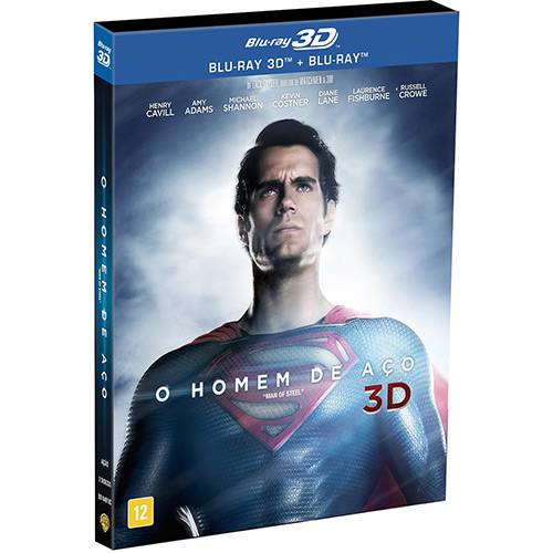 Blu-Ray 3D o Homem de Aço (Blu-Ray 3D + Blu-Ray)