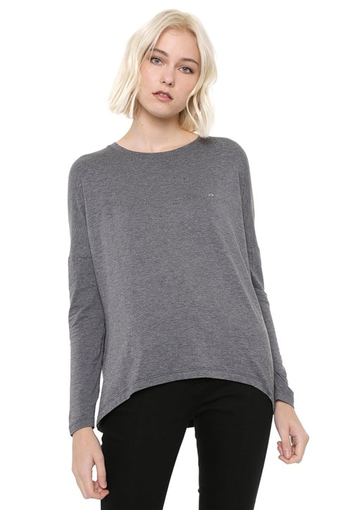 Tudo sobre 'Blusa Calvin Klein Básica Cinza'