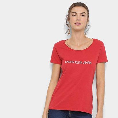 Blusa Calvin Klein Básica Estampa Logo Feminina