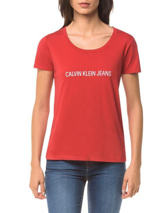 Tudo sobre 'Blusa Ckj Fem Mc Logo Frente - Vermelho - P'