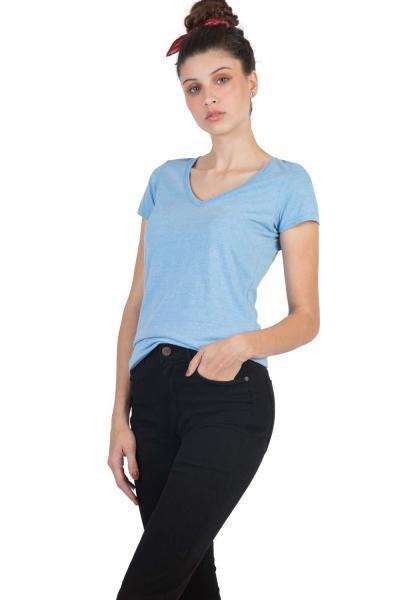 Blusa Gola V Básica Azul - Taco