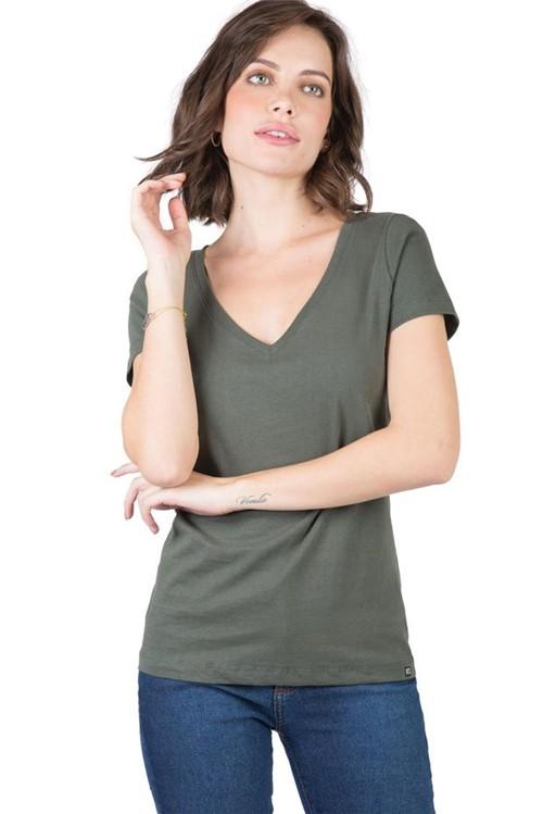 Blusa Gola V Básica Verde VERDE/P