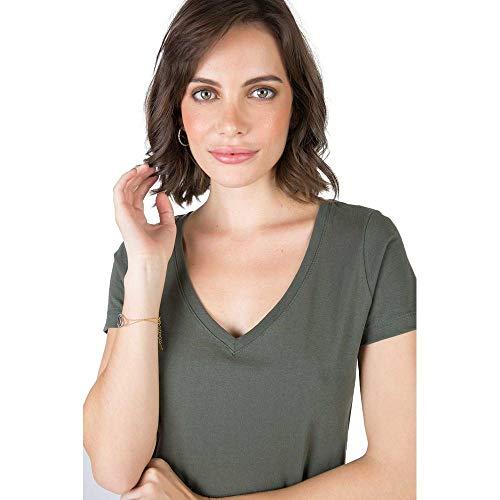 Blusa Gola V Básica Verde VERDE/G