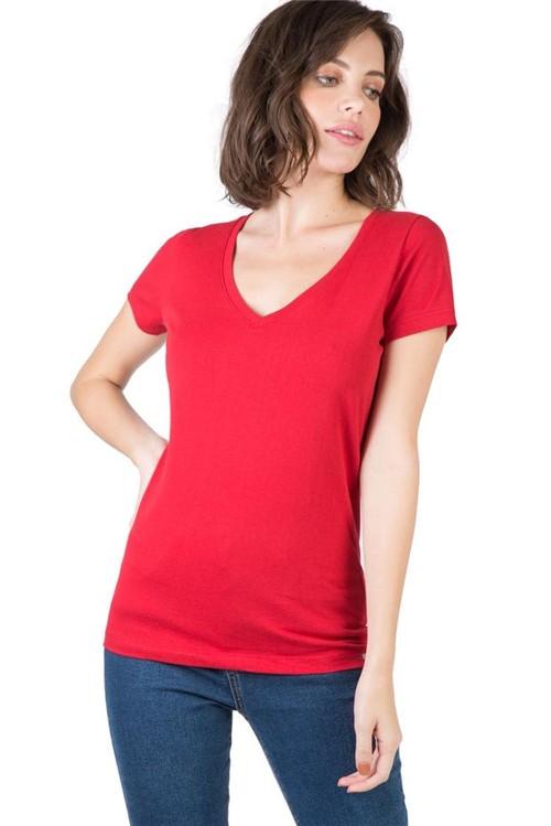Blusa Gola V Básica Vermelha VERM/P