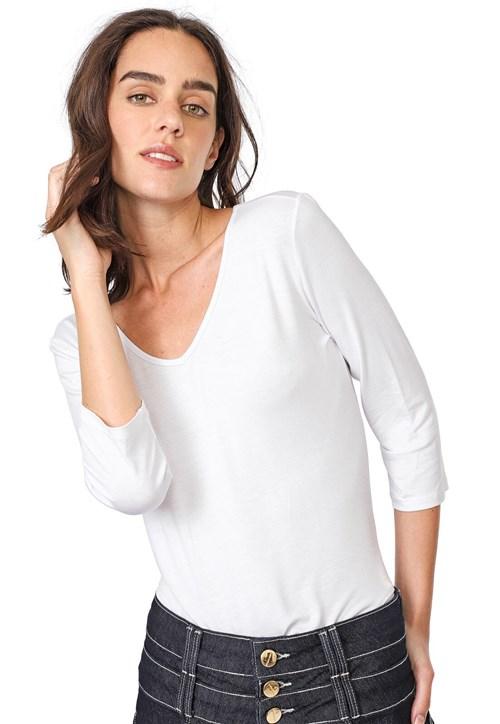 Blusa Lança Perfume Lisa Branca