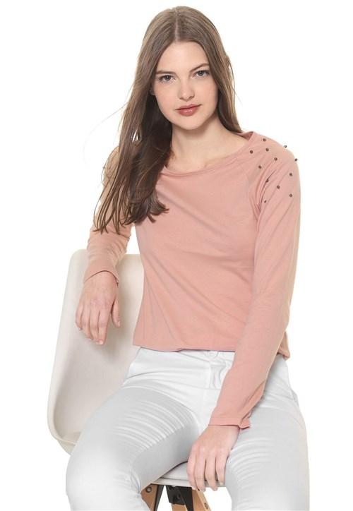 Blusa Malwee Aplicações Rosa
