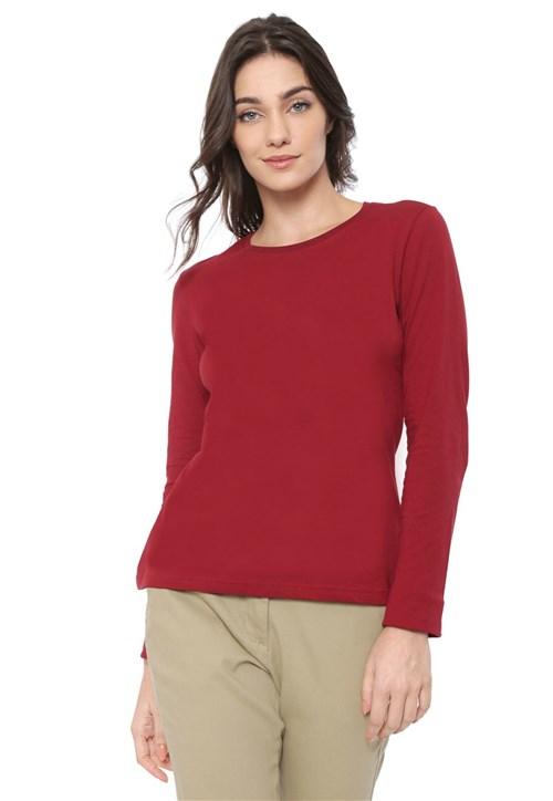 Blusa Malwee Básica Vermelha