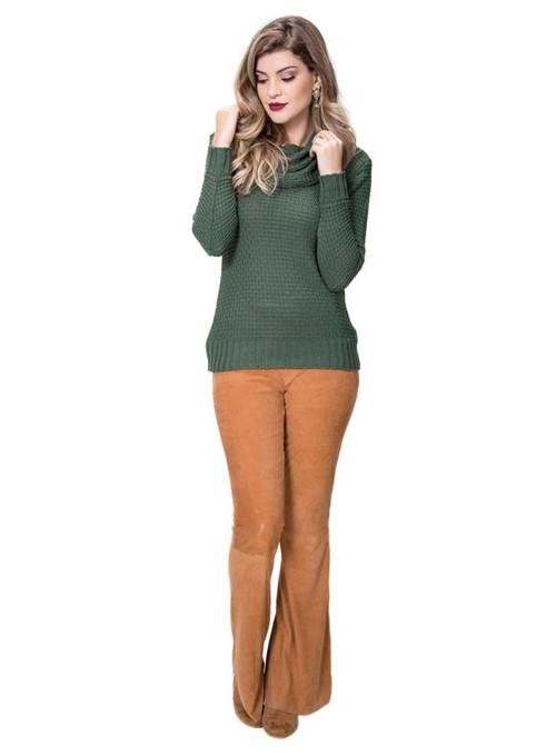 Tudo sobre 'Blusa Tricot Links Gola Boba Verde'
