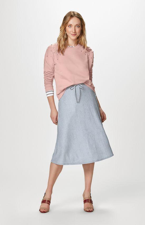 Blusão com Apliques Malwee Rosa Claro - G