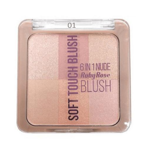 Blush Soft Touch 6 em 1 Ruby Rose (COR 01)