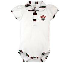 Body Bebê Manga Curta Polo Menina Fluminense Doremibebê
