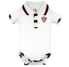 Body Bebê Manga Curta Polo Menino Fluminense Doremi Bebê
