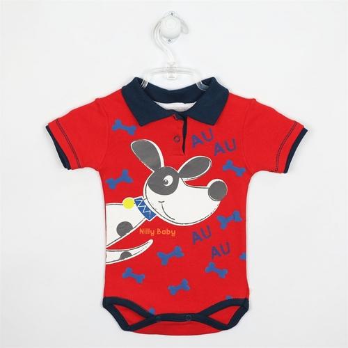 Body Bebê Masculino Manga Curta Gola Polo