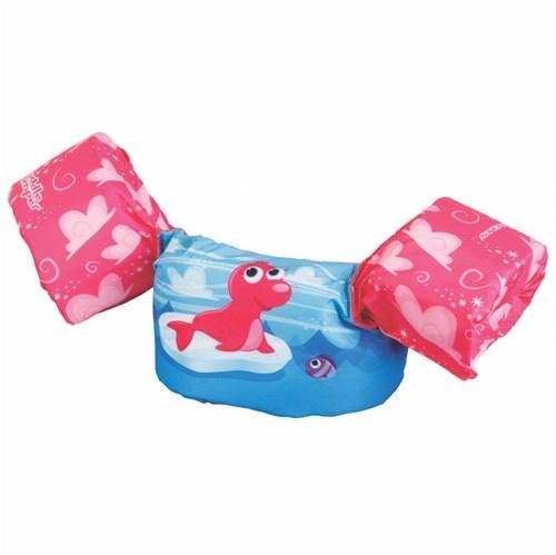 Bóia Colete Salva-Vidas Foca Rosa - Puddle Jumper