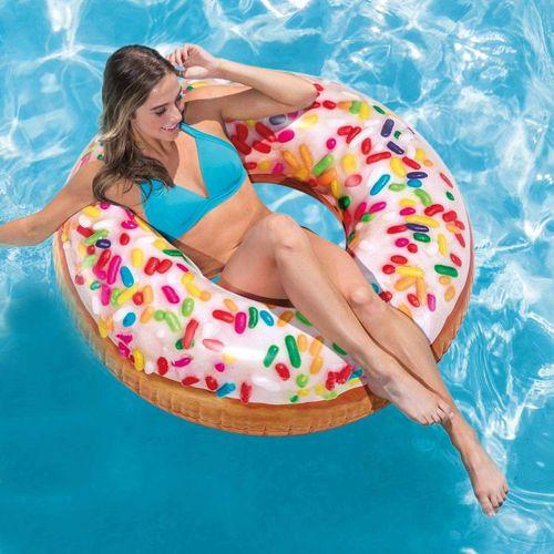 Boia Donut Chocolate Branco e Granulado 56263 Intex