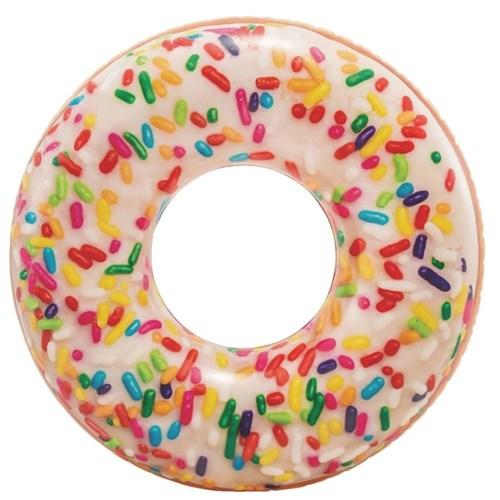 Boia Donut Inflável Brigadeiro Branco