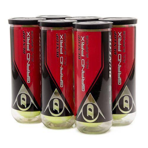 Tudo sobre 'Bola de Tênis Dunlop Grand Prix -tubos com 3 Bolas - 6 Tubos com 3 Bolas'