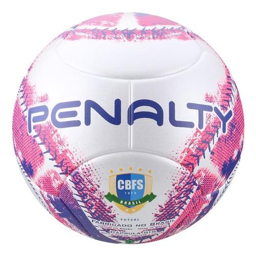 Bola Futsal Penalty Max 400 IX 521251165 Branco/Rosa