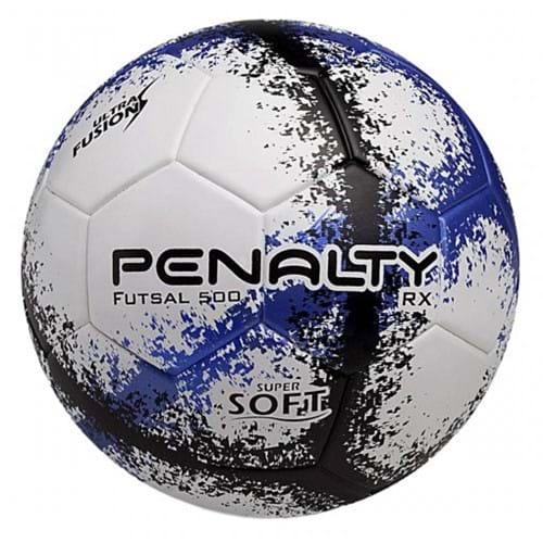 BOLA FUTSAL PENALTY RX500 R3 FUSION 8 - Branco/Azul/Preto - Compre Agora | Radan Esportes