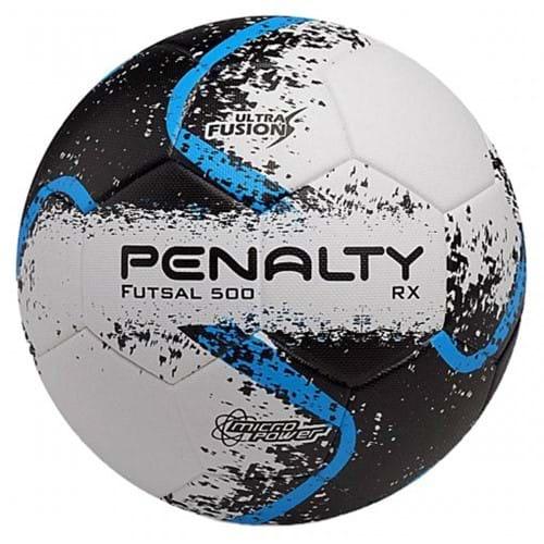 BOLA FUTSAL PENALTY RX500 R2 ULTRA FUSION 8 - Branco/Azul/Preto - Compre Agora | Radan Esportes