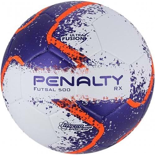 BOLA FUTSAL PENALTY RX500 R2 ULTRA FUSION 8 - Branco/Laranja/Roxo - Compre Agora | Radan Esportes