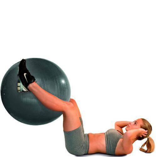Bola para Ginástica Gym Ball 85cm Acte Sports Cinza Chumbo