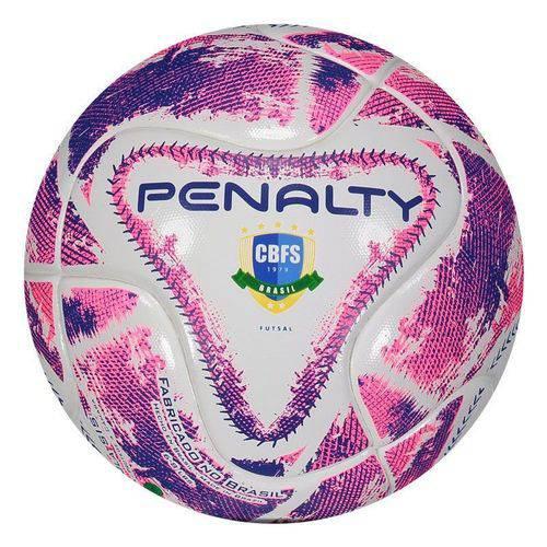 Bola Penalty Max 100 LX Futsal Branca e Roxa