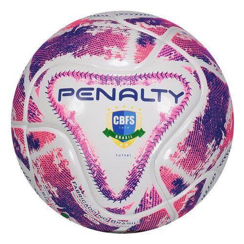 Bola Penalty Max 50 IX Futsal Branca e Rosa