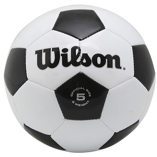 Bola Wilson Futebol Traditional No. 5 Oficial Branca