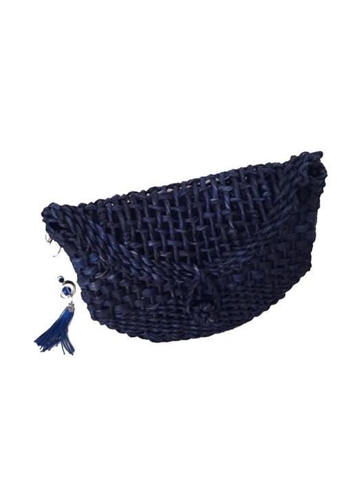 Bolsa de Palha Manoo Manoo Azul Marinho