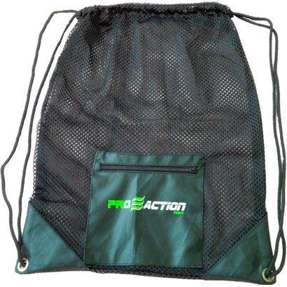 Bolsa Gym Mesh em Material Resistente e Durável 35x45cm Proaction G179