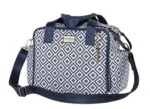 Bolsa Pequena Maternidade Geometric Azul - Batistela Baby