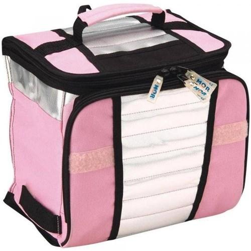 Bolsa Térmica Ice Cooler C/ Divisória Mor Rosa 7,5 Litros 9 Latas