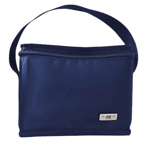 Tudo sobre 'Bolsa Térmica Pequena para Marmita Frasqueira Masculina Azul'