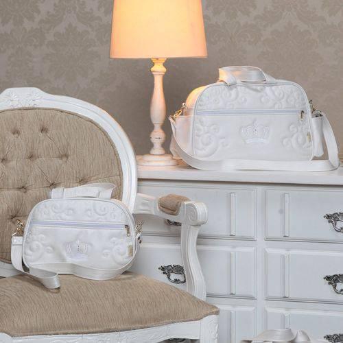Bolsas Maternidade Glamour Branco Kit 2 Peças