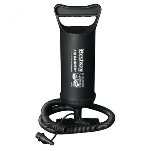 Bomba Manual Bestway Air Hammer 30cm 3 Bicos Adaptadores
