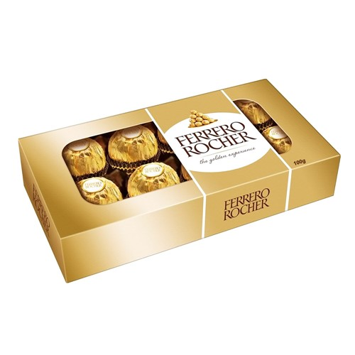 Tudo sobre 'Bombons Ferrero Rocher 8 Unidades'