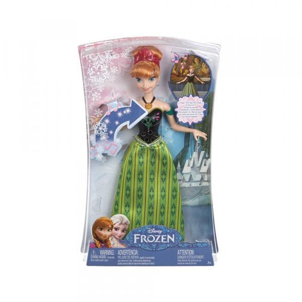 Boneca Anna Musical Frozen Mattel CMK70 - Mattel