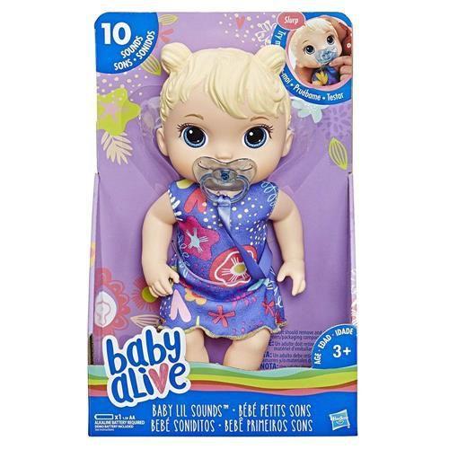 Boneca Baby Alive Baby Lil Sounds - Bebê Primeiros Sons Loira