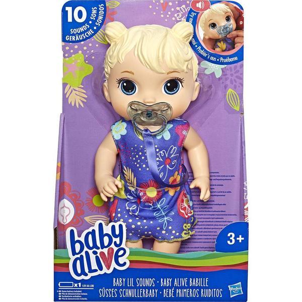 Boneca Baby Alive Bebê Primeiros Sons Loira E3690 - Hasbro