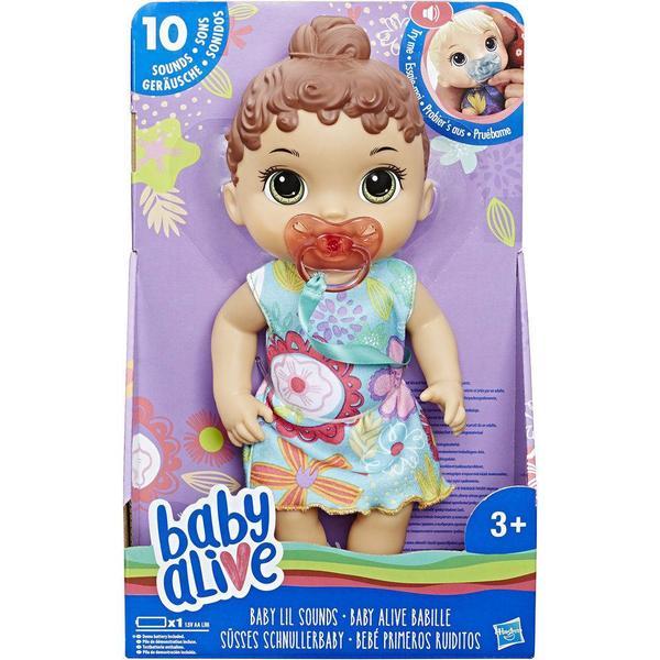 Boneca Baby Alive Bebê Primeiros Sons Morena - E3688 - Hasbro