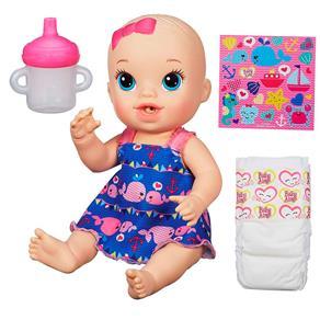 Boneca Baby Alive Hasbro Hora do Xixi Roupinha Azul