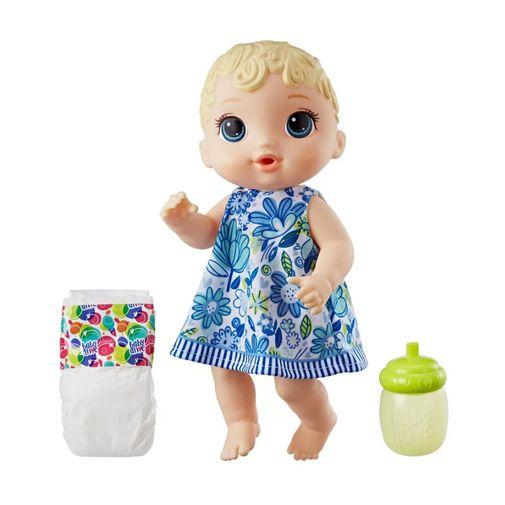 Boneca Baby Alive - Hora do Xixi Loira Vestido Florido - Hasbro