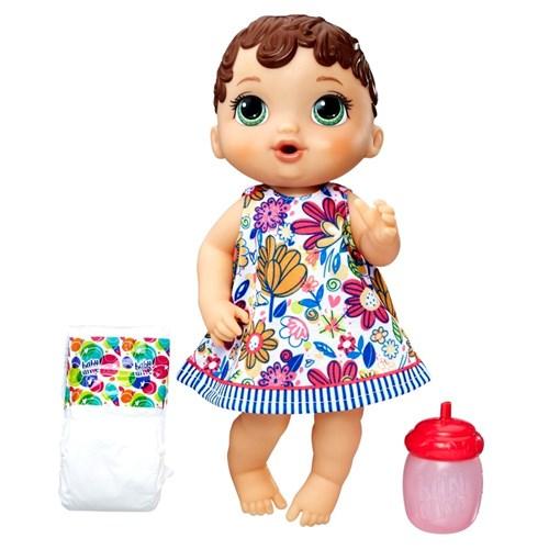 Boneca Baby Alive - Hora do Xixi - Morena - E0499 - Hasbro Hasbro