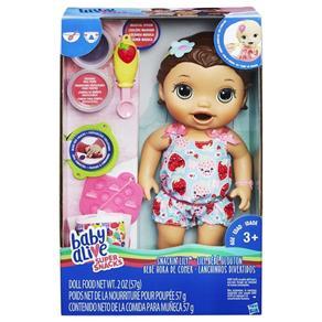 Boneca Baby Alive Lanchinho Divertidos Morena Hasbro