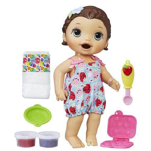 Boneca Baby Alive Lanchinhos Divertidos Morena Hasbro