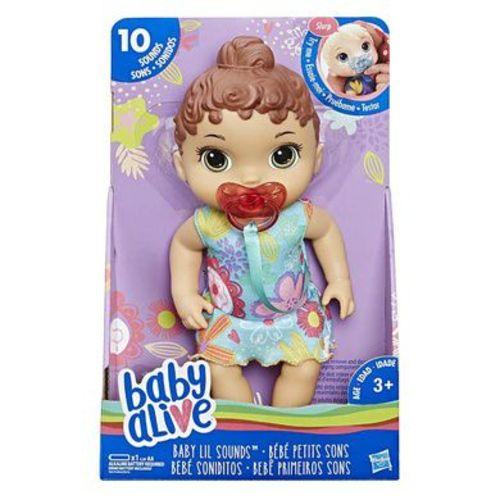 Boneca Baby Alive Primeiros Sons Hasbro Morena E3688